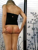 Sarah gets spanked by her parents