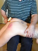 Chloe Elise spanked by Clare